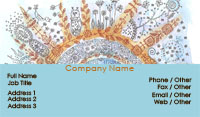 Blue and Orange Paisley Business Card Template